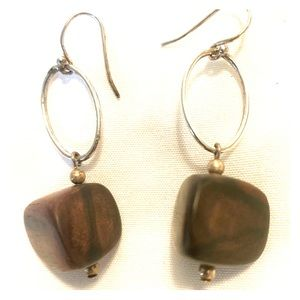 Silpada sterling silver and ebony earrings